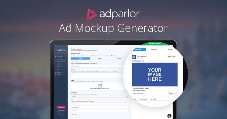 Our New And Greatly Improved Ad Mockup Generator Adparlor Social Media Mockup Mockup Template Free Mockup Templates