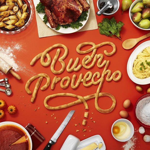 Alimentos viram fontes tipográficas - campanha para Target latina criada por Snask e Latinworks;