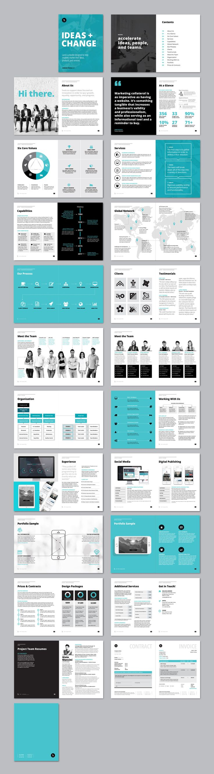 profile company design template