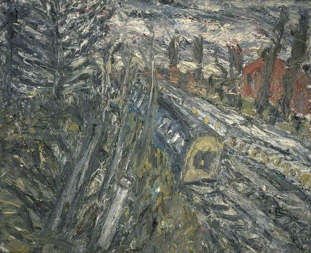 Leon Kossoff. Between Kilburn and Willesden Green, Winter Evening