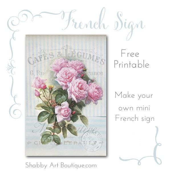 Shabby Art Boutique - French Sign Printable