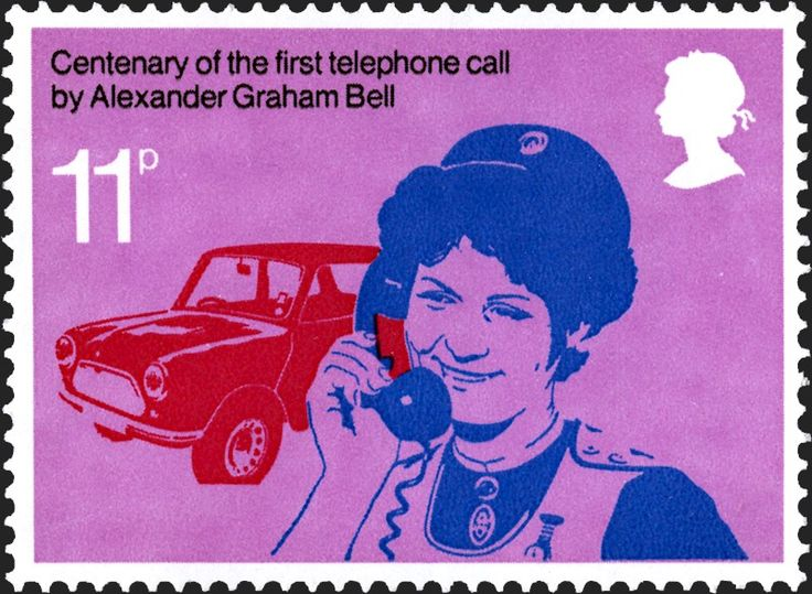 Marking the centenary of the first telephone call by Alexander Graham Bell