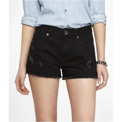 Top 25 ideas about Black Denim Shorts on Pinterest | Denim shorts ...