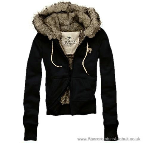 Abercrombie & Fitch Fur Hoodies Alicia
