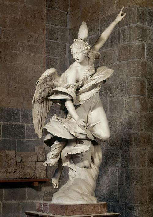 Francesco Mochi. Angel of the Annunciation. 1603-1605.    Marble.    Museo dell'Opera del Duomo di Orvieto. Orvieto, Italia.