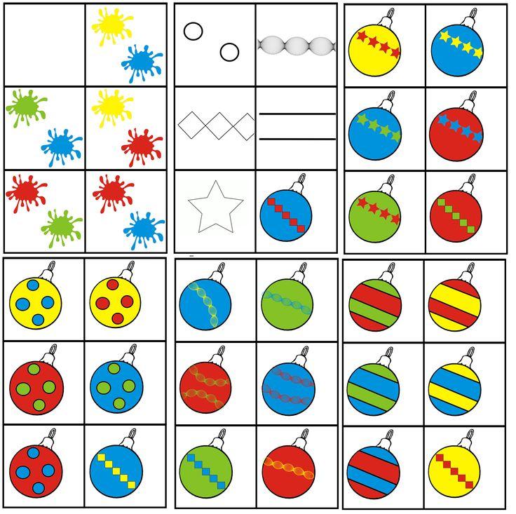 matrix kerst: patroon op kerstballen combineren met 2 kleuren