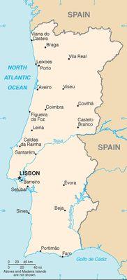 Portogallo - Mappa