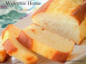 Welcome Home: Buttermilk Pound Cake