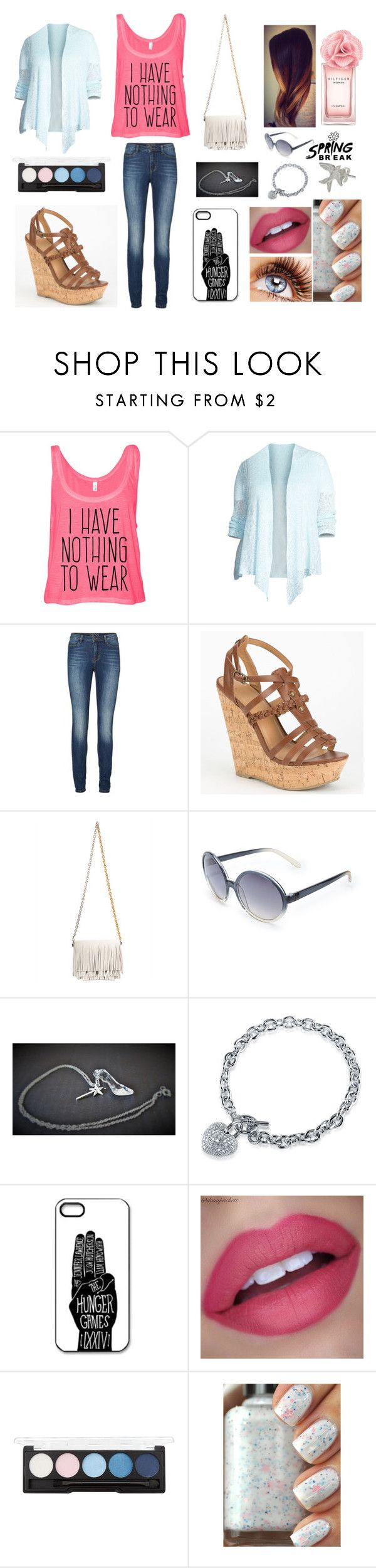 """Spring break"" by harlec8king ❤ liked on Polyvore featuring Eileen Fisher, Lipsy, Delicious, Proenza Schouler, Las Chicas, Forever 21, BERRICLE, Tommy Hilfiger and Zoe & Morgan"