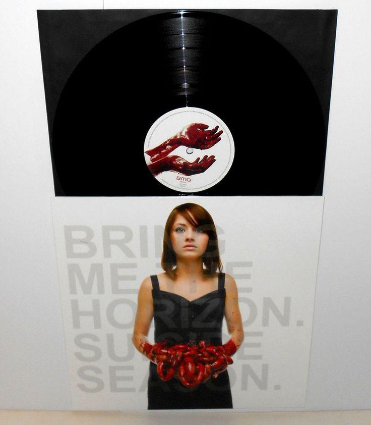 BRING ME THE HORIZON suicide season LP Record Black Vinyl , 2014 UK pressing #metalcore