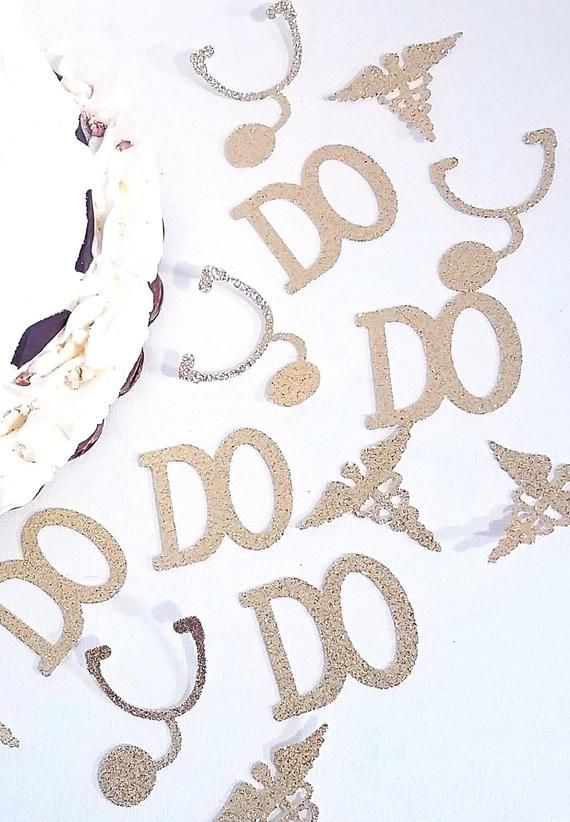 DO medical doctor osteopathic Med school confetti die cuts birthday party favor decorations graduation table decor stethoscope caduceus