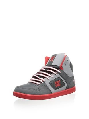 40% OFF DC Men's Union High Lace-Up Fashion Sneaker (Grey/Red)