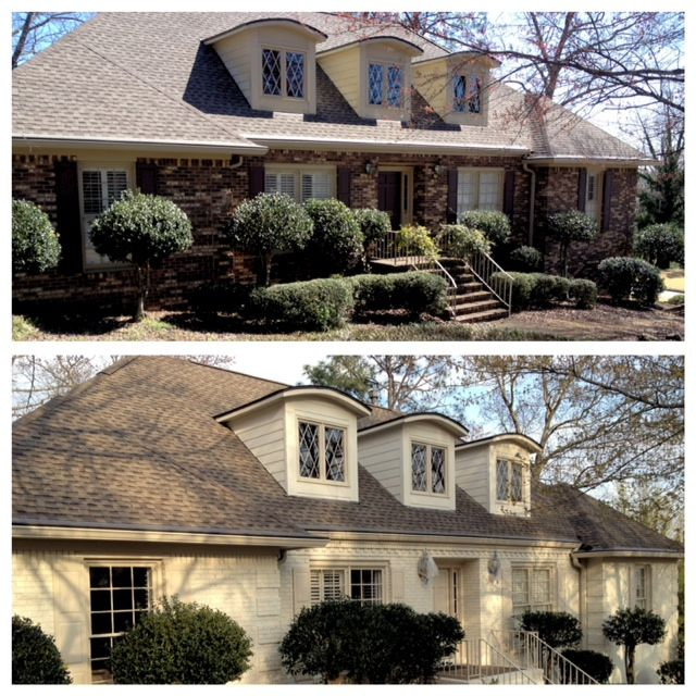 painting brick houses pictures | Vestavia Hills Alabama Brick House Painting | Painting Contractor Blog ...