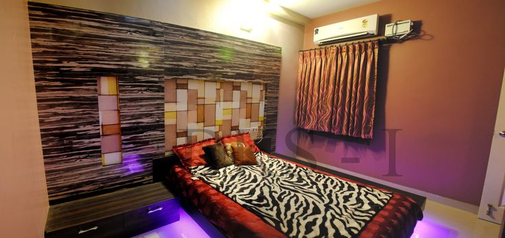 Master Bedroom Floating Cot Design Residential Interior Designs Mr Balaji Gopalan