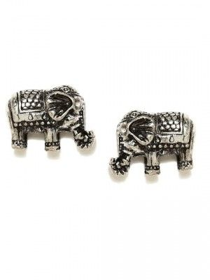 Accessorize oxidized silver toned stud earrings