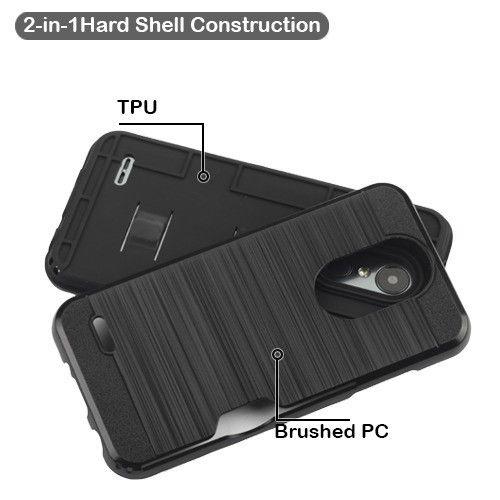 LG Tribute Dynasty Black/Black Brushed Hybrid Protector