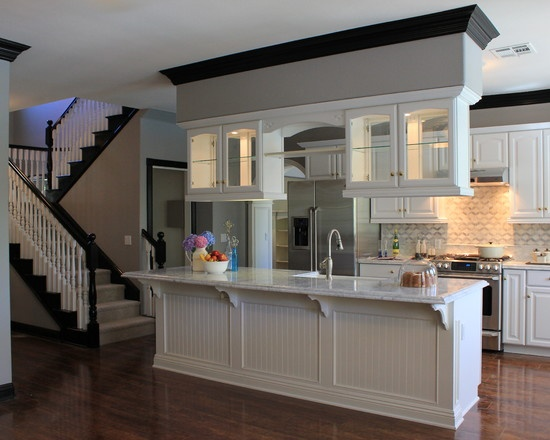 Kitchen Design White Cabinets With Oak Molding | Home Harmony