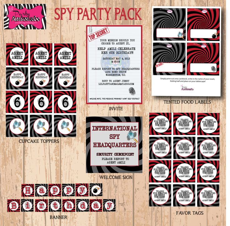 DIY druckbare Spy-Party-Paket
