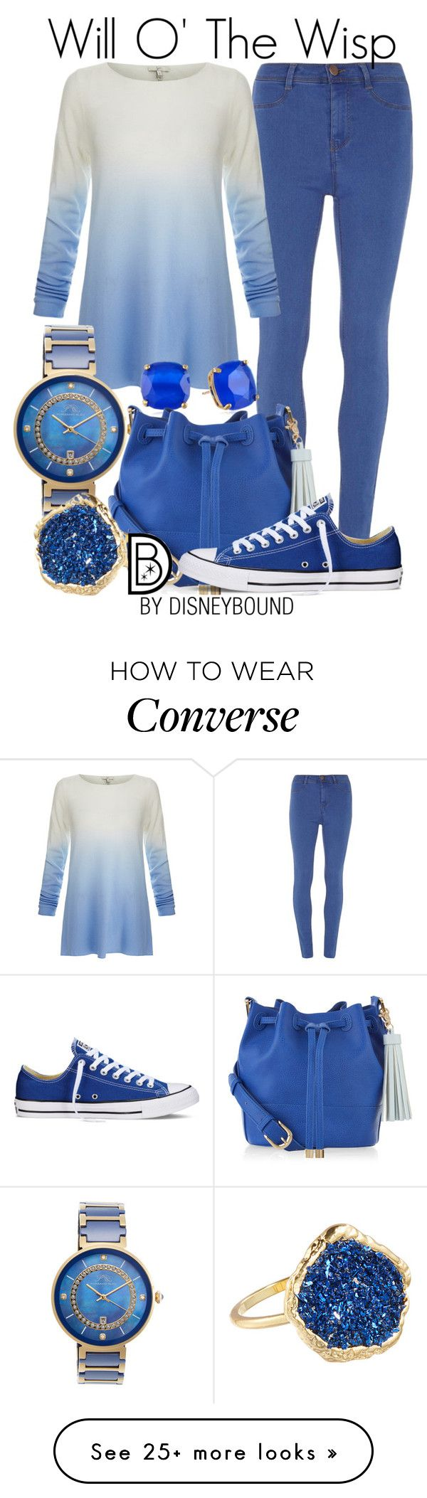 """""""Will O' The Wisp"""" by leslieakay on Polyvore featuring Dorothy Perkins, Joie, Porsamo Bleu, Kate Spade, Accessorize, Converse, Accentuality, disney and disneybound"""