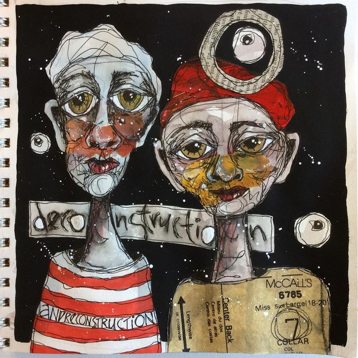 Another journal page in my year long class with Ardith Goodwin. Too much fun…