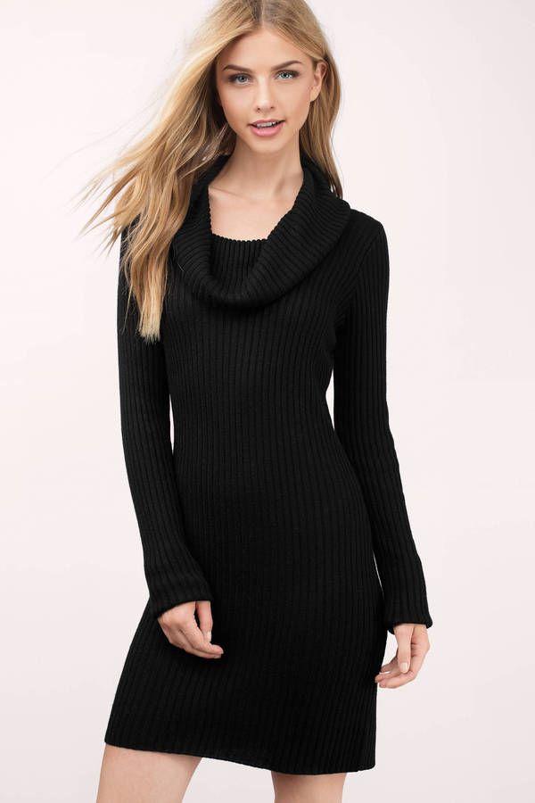 Mellie Cowl Sweater Dress at Tobi.com #shoptobi