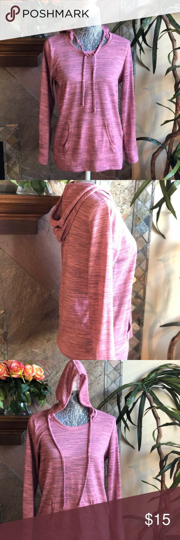 Nine West Vintage America Pink Hoodie Size Small Nine West Vintage America Collection Pink Hoodie.  Light weight attached hoodie sweatshirt. Long sleeve. Pocket across the front. Gently used- in great condition. No stains no rips detected. Comes from a smoke free home. Size Small. Nine West Sweaters Crew & Scoop Necks
