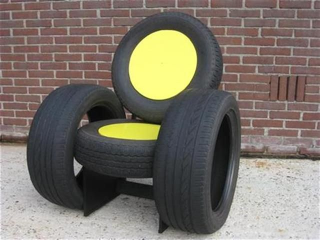 Tire chair craft ideas pinterest tire chairs and chairs for Diy tire chair