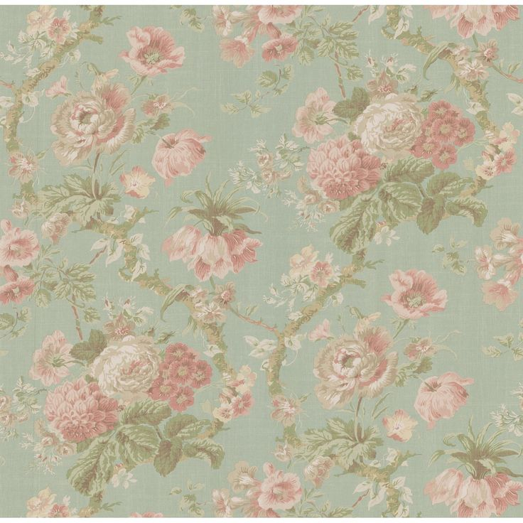 Vintage rose wallpaper | Baby girl nursery | Pinterest ...