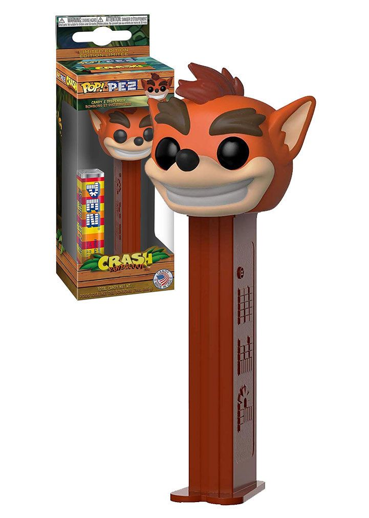Crash Bandicoot PEZ FUNKO POP