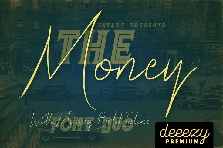 The Money Font Duo   Deeezy - Freebies with Extended License