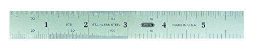 General Tools & Instruments 678MED Precision 6-Inch Rigid Steel Rule