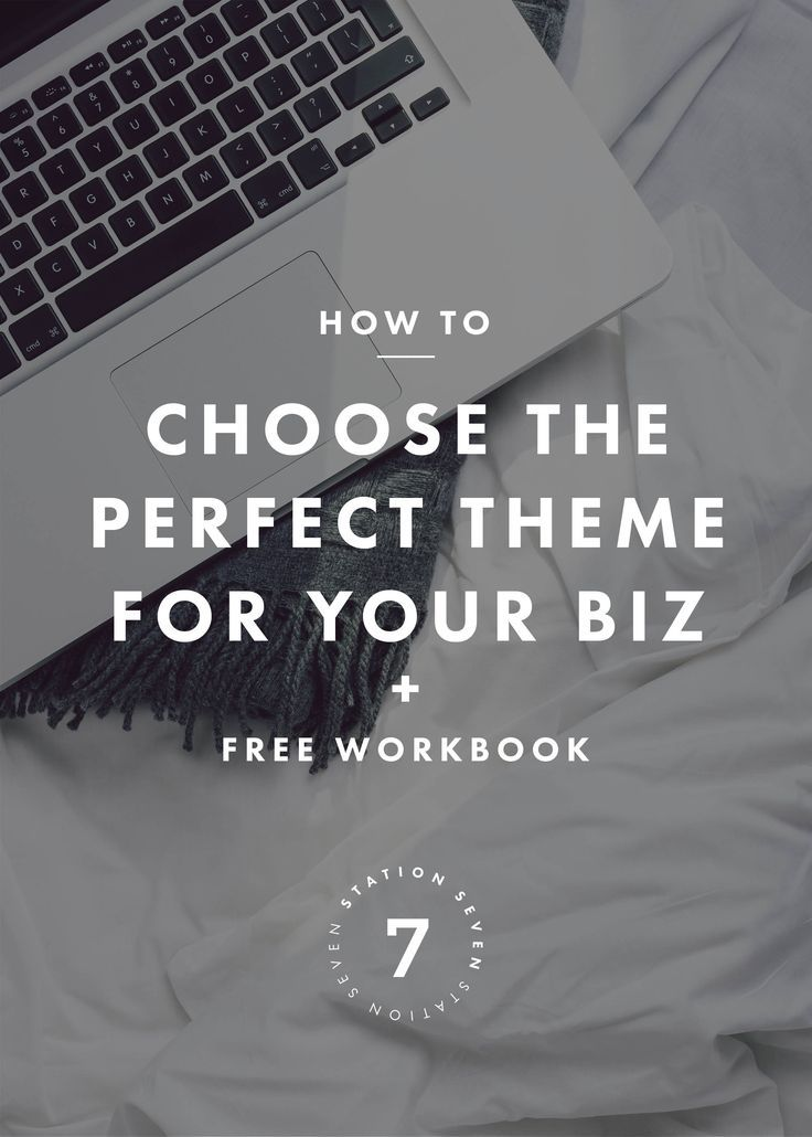 how to choose a website theme for your business | wordpress theme inspiration | minimalist wordpress themes, modern and simple website themes