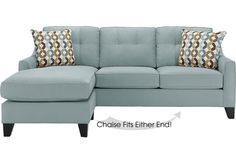 Cindy Crawford Home  Madison Place Hydra 2 Pc Sleeper Sectional from  Furniture