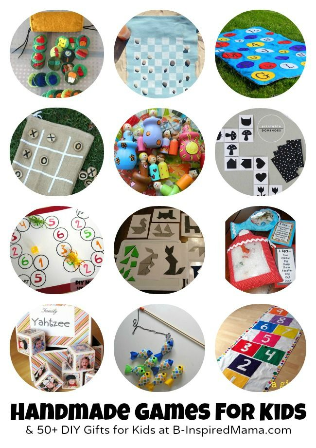 #Games to Make for #Kids + 50 More DIY Gifts at B-InspiredMama.com