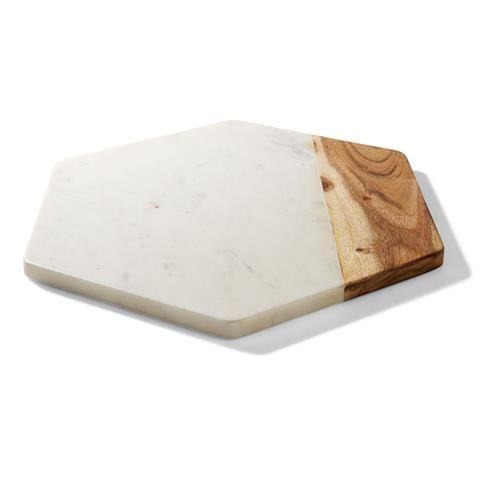 marble & Acacia Hexagon homemaker