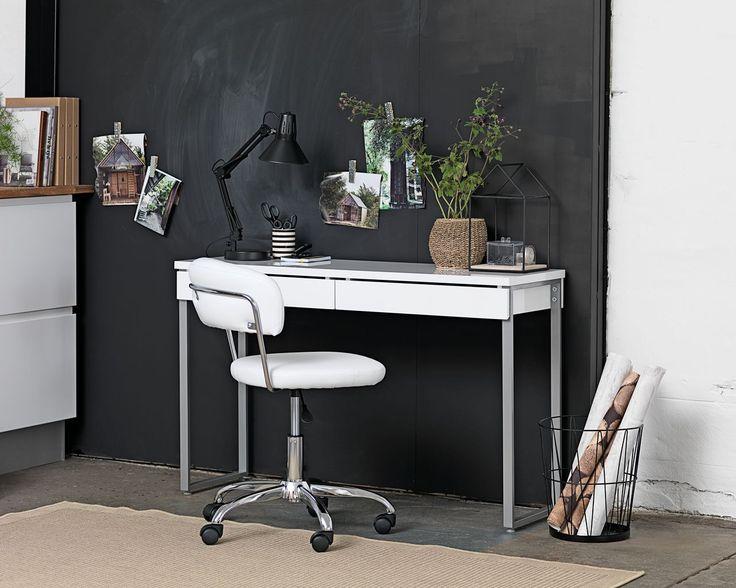 Bureau/Sidetable STEGE wit hoogglans | JYSK