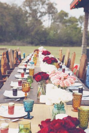 bohemian wedding, brides of adelaide, bouquets, table settings, invitations, cake