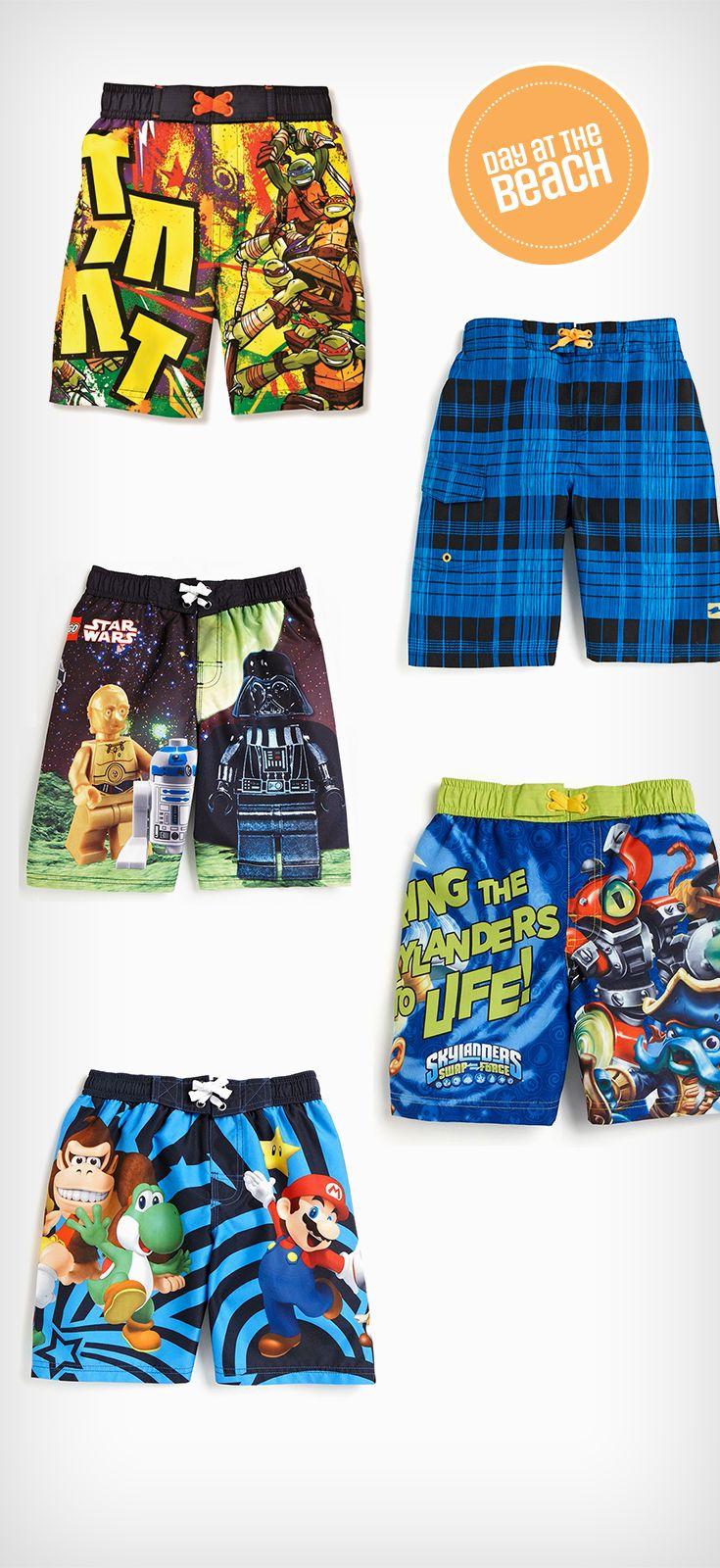 Kid's make a splash in kids' swim fashion: Boy's swimming trunks