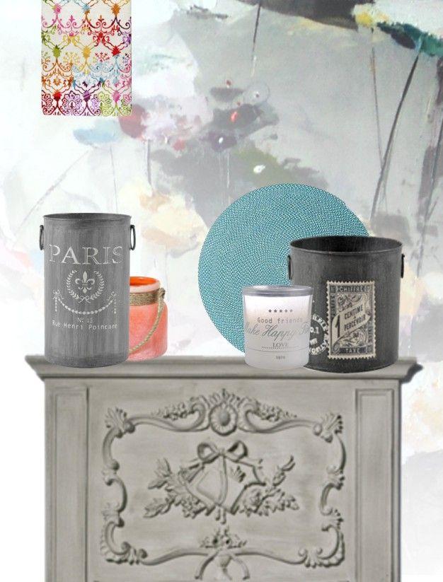 Inspiracje dla pięknego domu: kolaż z produktami ze sklepu Decolor.pl; autor:Danka Leszczyńska