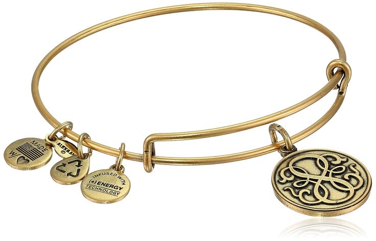 "Alex and Ani Bangle Bar ""Path of Life"" Rafaelian Gold Finish Expandable Bracelet:"