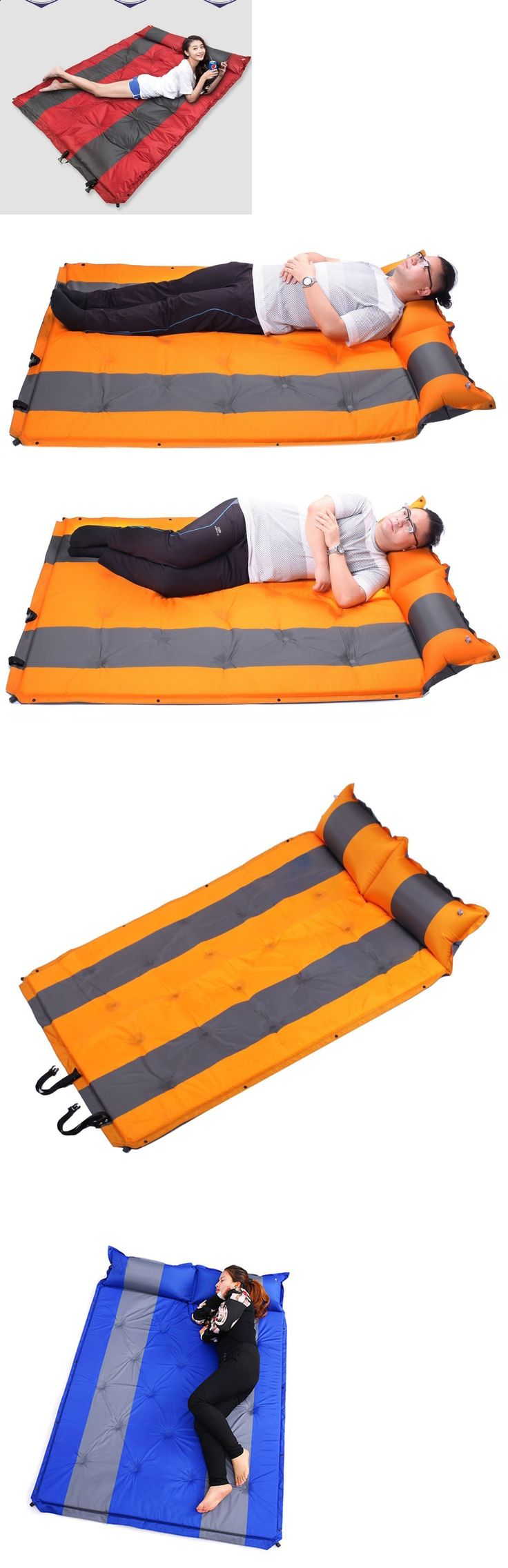 Camping Sleeping Pad - Mattresses and Pads 36114: Double Self Inflating Pad Sleeping Mattress Air Bed Camping Hiking Mat Joinable -> BUY IT NOW ONLY: $45.99 on eBay!