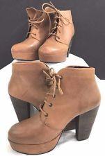 2 Steve Madden Boots Women's Platform Chunky Brown Leather 8.5 Vintage Grunge #eBayDanna