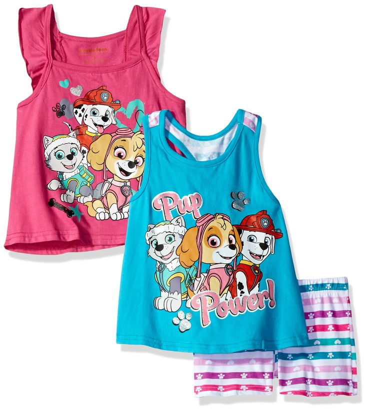 Nickelodeon Girls' 3 Piece Paw Patrol Knit Tanks and Short Set, Blue, 18m. Elastic all around the waist. Great outfit. Super cute. Your kid will love this.