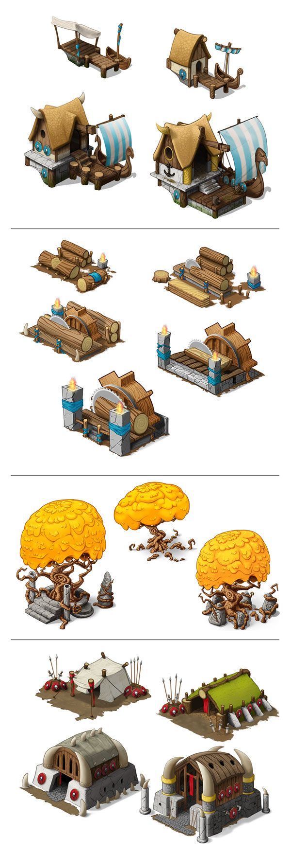 Houses, on various levels. Done for Godsrule, a online game published by SEGA. Sorry to say, no longer a running game.