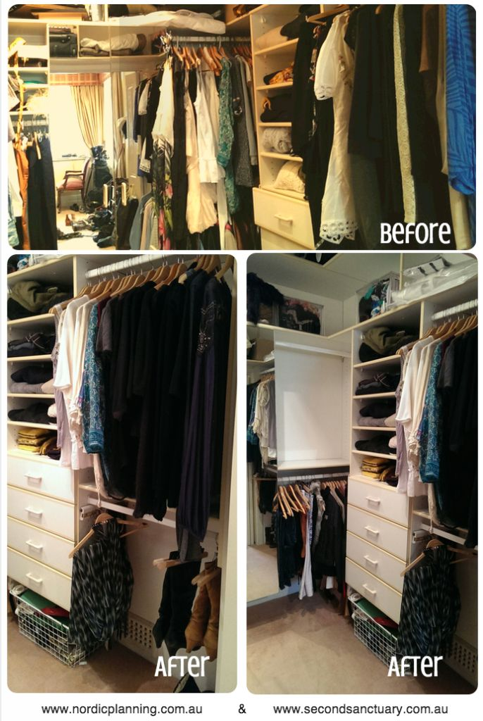 Wardrobe Makeover Results - Nordic Planning - Professional Organiser in Perth