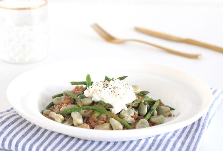 Speltsalade met groene asperges en tuinbonen – SKINNY SIX