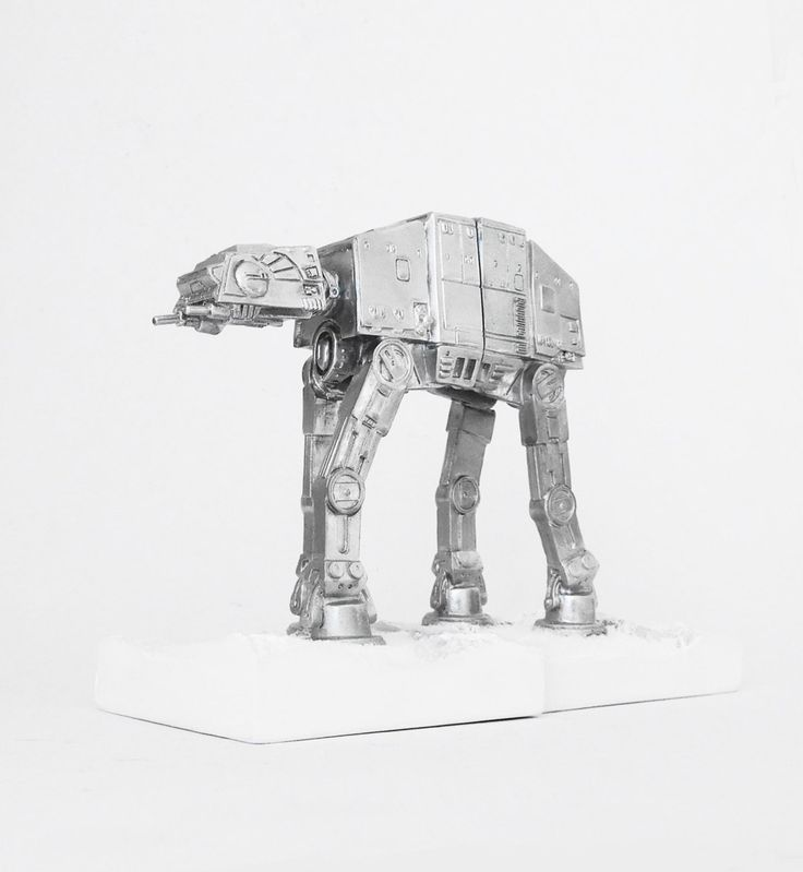 Bookend, Imperial AT-AT Walker, Star Wars Figurine, The Empire Strikes Back, Space, Bookends, Star Wars Decor, Star Wars, Science Fiction, by hodihomedecor on Etsy