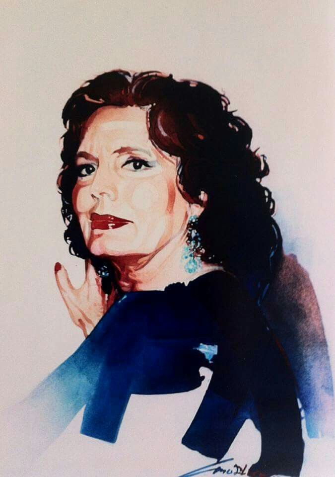 Amalia Rodrigues by Joaquim Canotilho painter