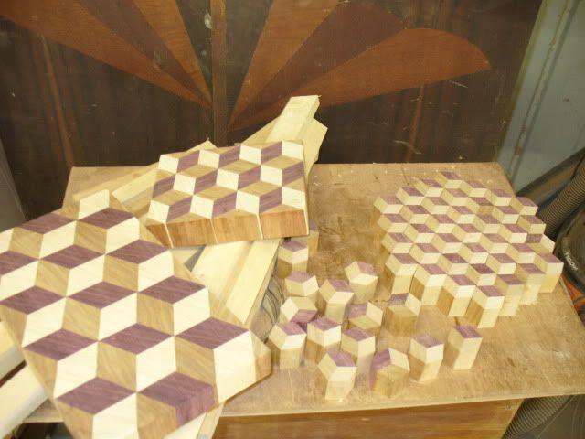 how to make a endgrain tumbling block butcher block board by degoose lumberjocks