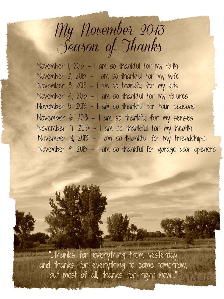 Season of thanks